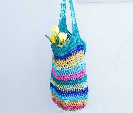 Crochet Shopping Bag : Bohemia Crochet Shopping Bag Handarbeiten Pinterest