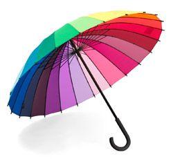 Colour Wheel Stick Umbrella