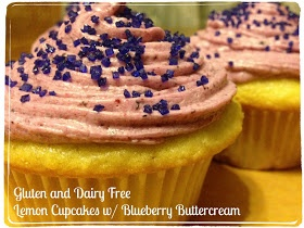 ... Gluten and Dairy Free Lemon Cupcakes with Dairy Free Blueberry