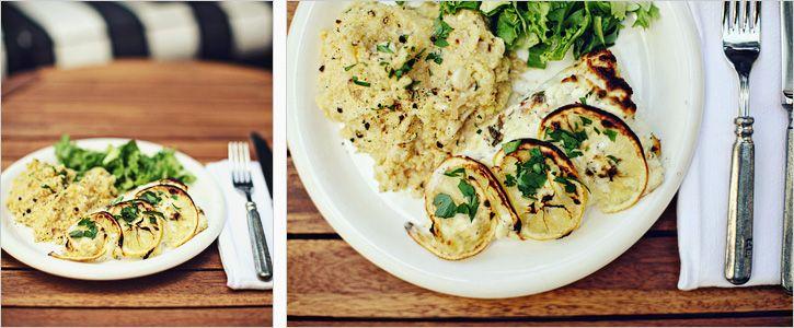 Lemon Fish and Grilled Corn Polenta | Tasty Treats | Pinterest