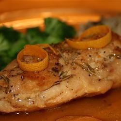 Rosemary chicken with orange glaze -Chicken breasts with a fresh ...