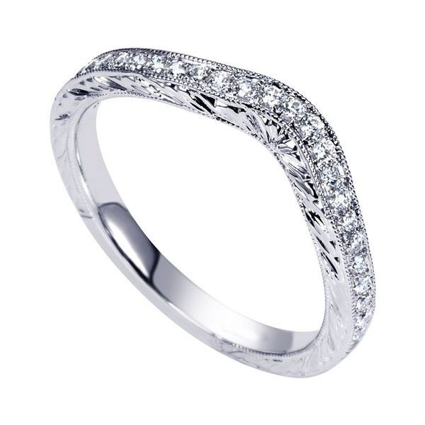 Genesis Designs WB8793W44JJ Wedding Ring 14K white gold victorian ...