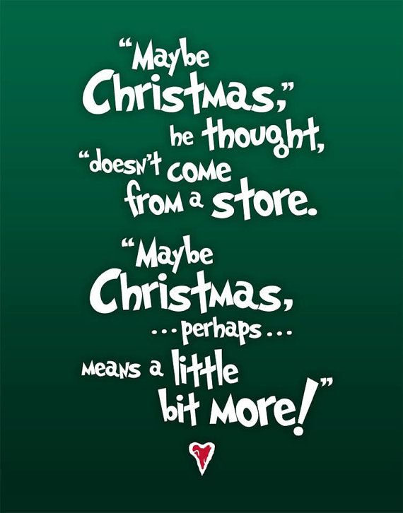 Christmas Subway Art - The Grinch Quote