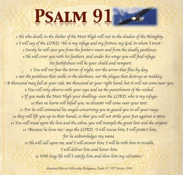 Invaluable image regarding psalm 91 printable