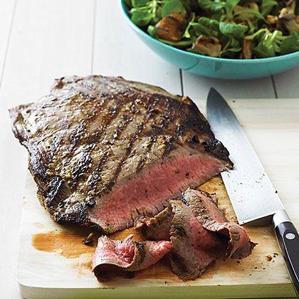 Grilled Horseradish Steak with Mushroom Salad | Recipe
