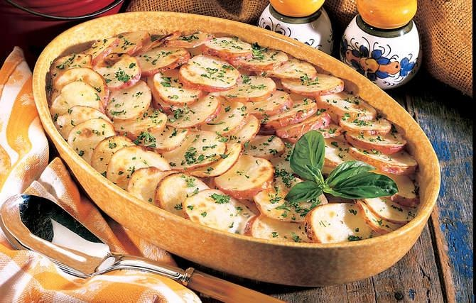 Creamy Herbed Scalloped Potatoes - To save money and calories ...