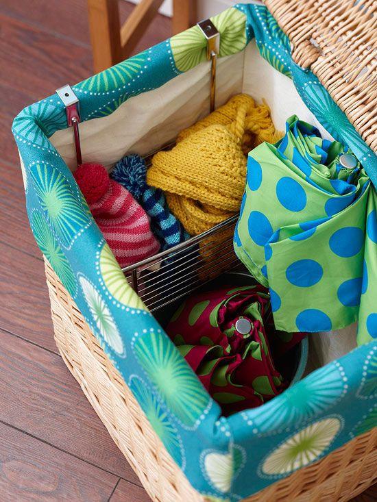 add pockets to a basket