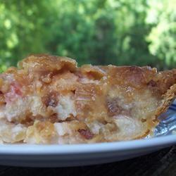 Rhubarb Sour Cream Pie Allrecipes.com | Recipes I want to try | Pinte ...