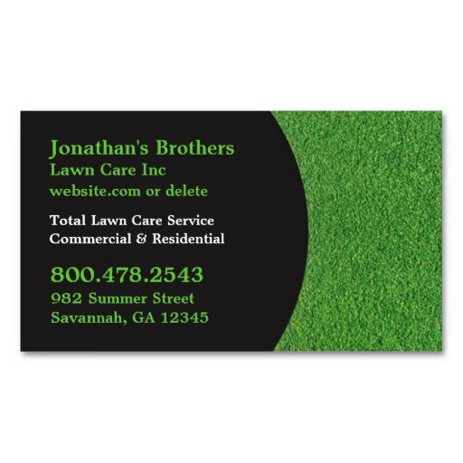 Lawn care business cards templates joy studio design for Landscaping business