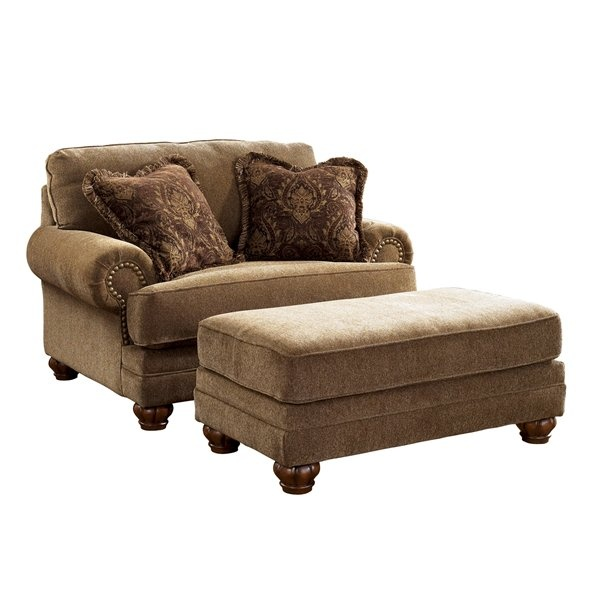 Signature Design by Ashley Stafford Chair and a Half with Ottoman