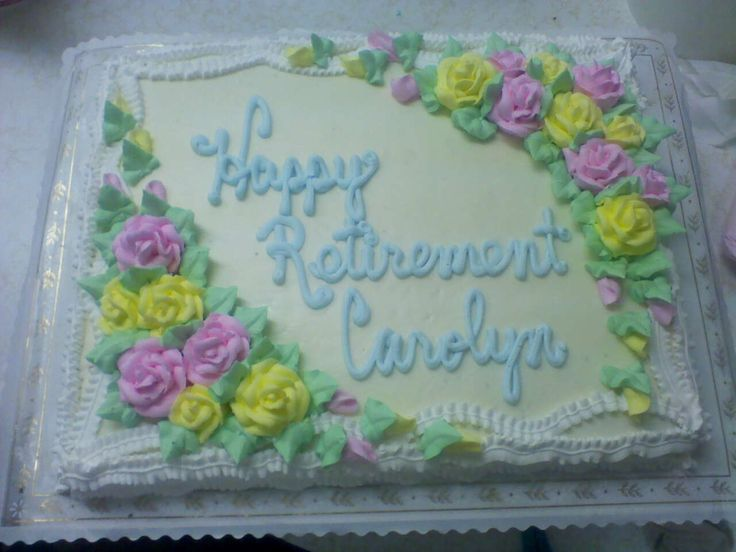 happy retirement cake decorating ideas Pinterest