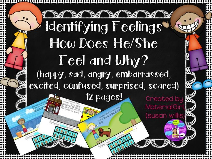 Speech Therapy Identify Feelings Emotions How does he/she ...
