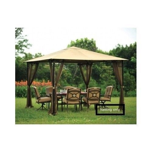 Gazebo mosquito netting for tent canopy garden patio for Balcony covering nets