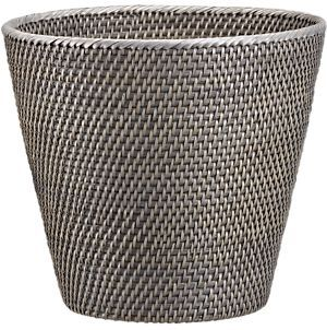 Sedona tapered wastebasket for Grey bathroom bin