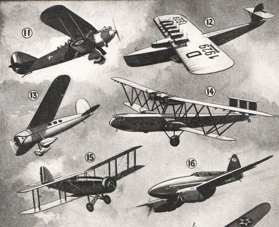 vintage print airplanes history of the airplane from 1920s
