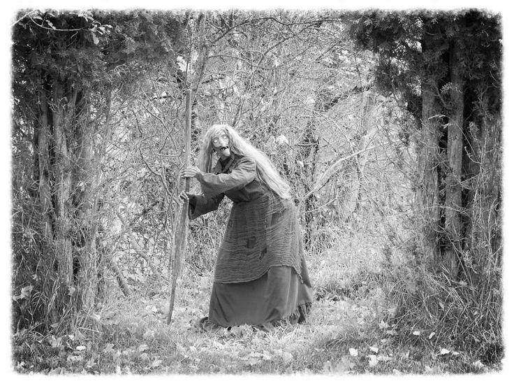My witch lurking around in the backyard