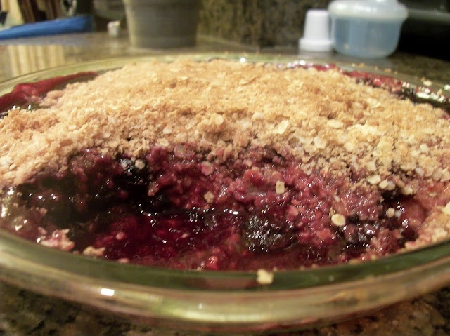 Triple Berry Crisp (from Gina's Weight Watcher Recipes) ...very good.
