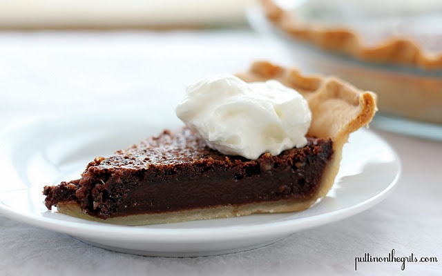 Chocolate Chess Pie..LOVE it!! I didn't use the optional pecan topping ...