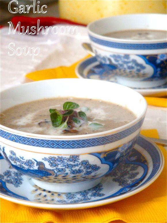 Spicy Garlic Mushroom Soup | Soup Ideas | Pinterest