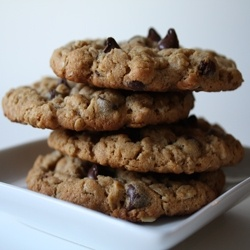 Dorie Greenspan's Chunky Peanut Butter and Oatmeal Chocolate Chipsters