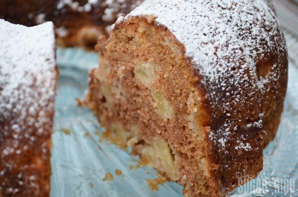German Apple Bundt Cake... Applesauce and Apples.. Yum