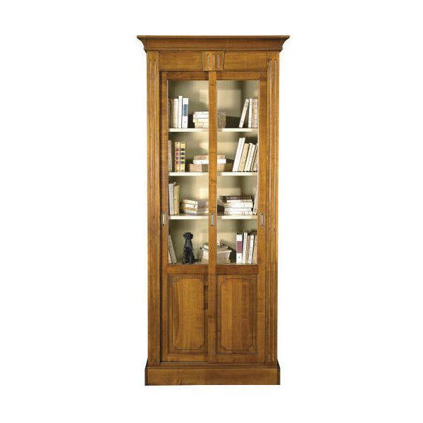 Narrow Bookcase W Sliding Glass Doors Credenze E Librerie Pinter