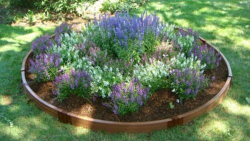I would like this in the front yard yards pinterest - Circular flower bed designs ...