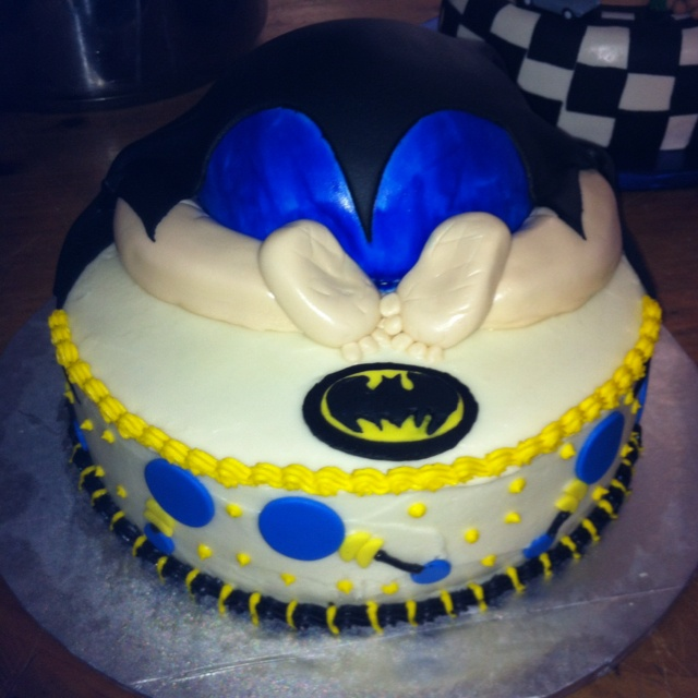pin batman baby shower cake on pinterest