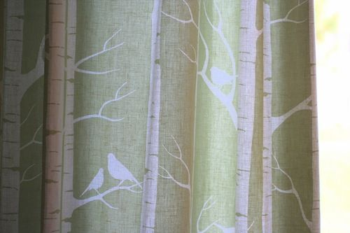Big W Shower Curtain Birch Tree Quilt