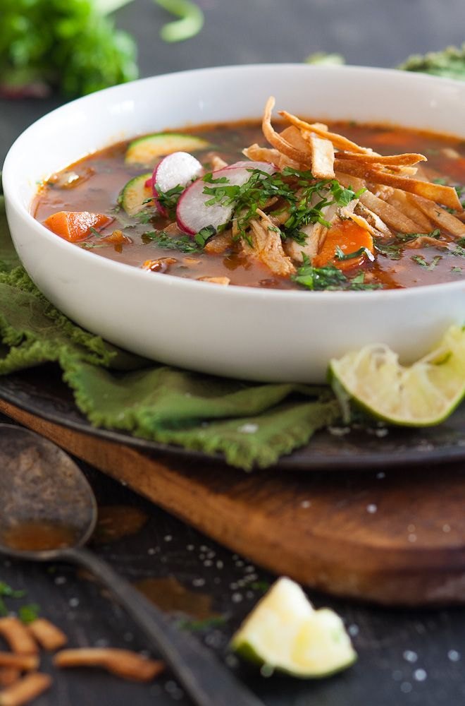 Leftover Turkey Tortilla Soup | soups, stews + chili | Pinterest