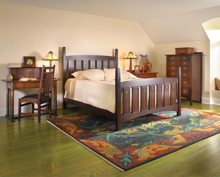 English garden stickley rug harvey ellis bedroom pieces for Arts and crafts bedroom ideas