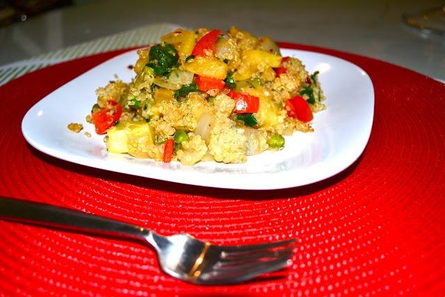 vegan asian pan-fried pineapple quinoa | Vegan Eats | Pinterest