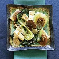 seared baby bok choy with tofu amp shiitakes