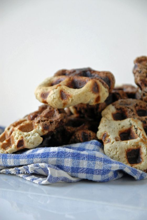 Vegan waffle cookies- cookie dough cooked in waffle maker!