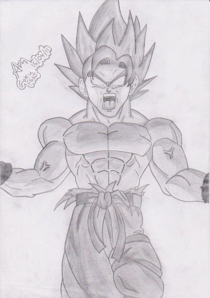 Dragon ball z drawings of goku goku false super saiyan for Super cool drawings