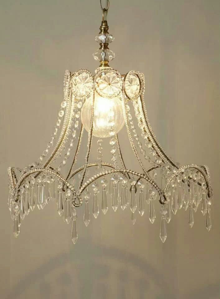 crystal lampshade chandelier illuminations pinterest. Black Bedroom Furniture Sets. Home Design Ideas