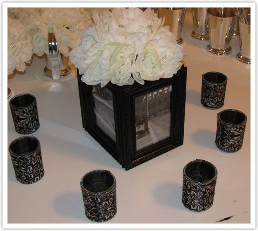 Picture Frame Vase Centerpiece : Picture frame centerpiece wedding beauty pinterest
