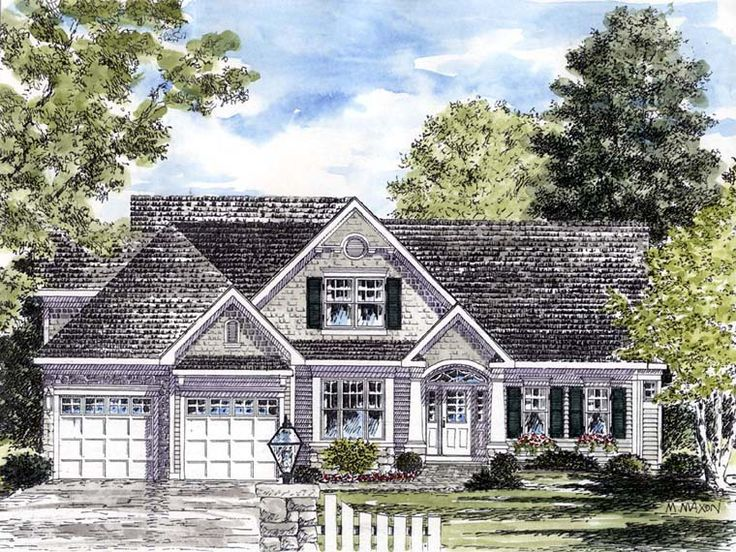 Cape Cod Coastal Colonial Cottage Country House Plan 94194