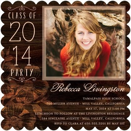 Etched Enchantment - #Graduation Invitations - Hello Little One in a rich Coffee Brown