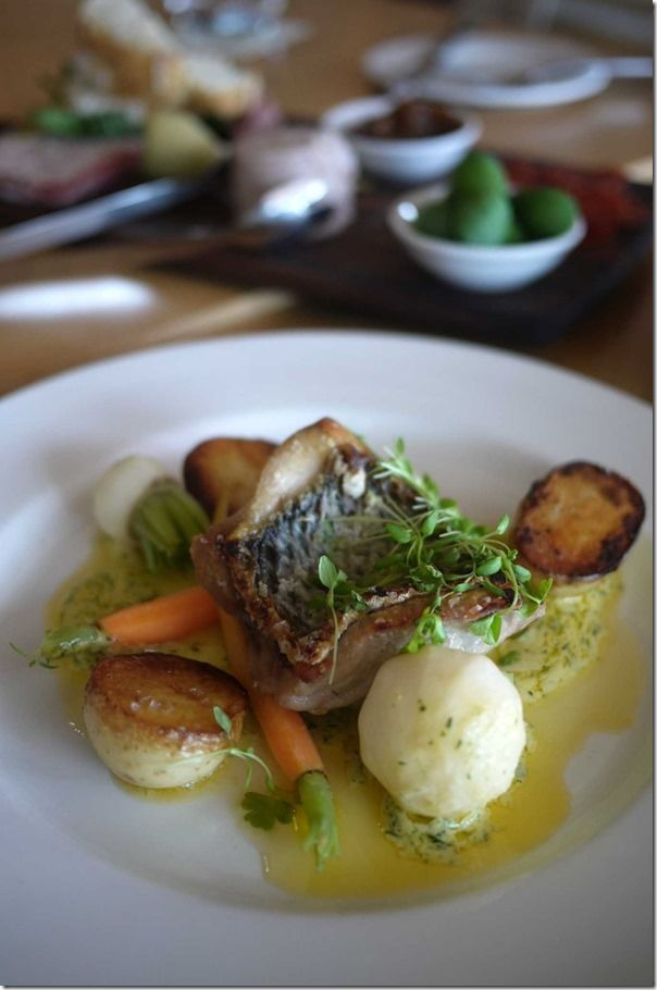 Pan roasted snapper fillet, dill butter sauce with Dutch carrots ...