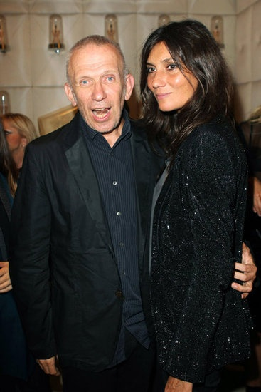 Emmanuelle Alt, with Jean Paul Gaultier at Fashion's Night Out in Paris, September 2011 #VFNO #FNO
