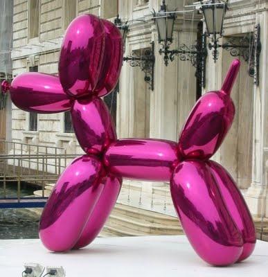 jeff koons pink balloon dog venice 2008 shot on