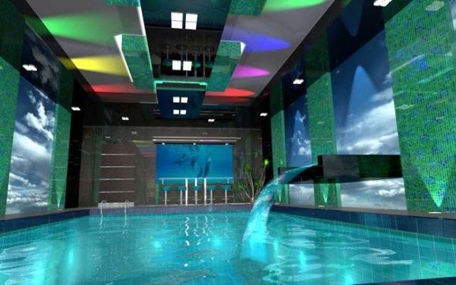 Crazy cool pool room indoor pool designs pinterest for Piscine interieure de luxe