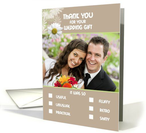 Thank you Wedding Gift Humorous Check Boxes List Photo card (895339)
