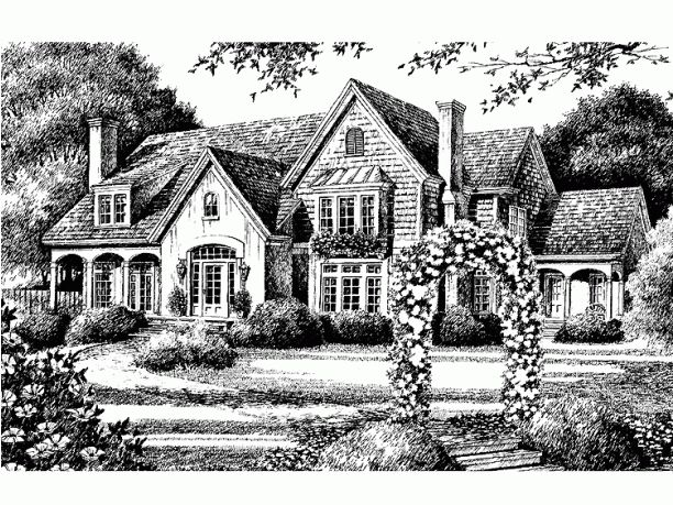 Cottage Home Plan French Country Pinterest