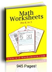 Educational Freebie: Math Worksheets (Grades Pre-K to 3)