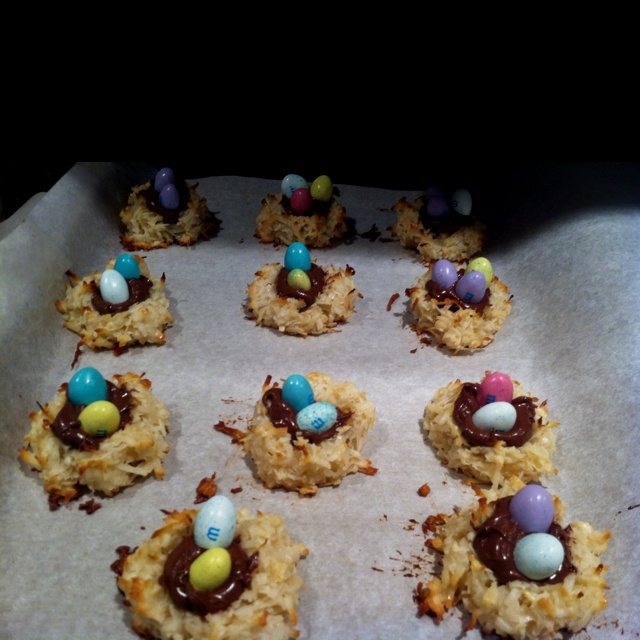 ... frosting coconut macaroon nutella nests coconut macaroon nutella nests