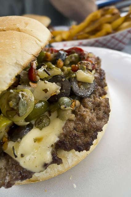 Muffaletta Burger | All about burgers | Pinterest