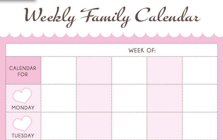 family calenders