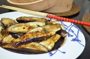 Steamed Asian Eggplant with Soy Sauce, Sesame Oil & Hot Chili Pepper ...